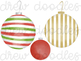 Watercolor Christmas Ornaments Digital Clip Art Set
