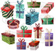 Watercolor Christmas Presents Clipart
