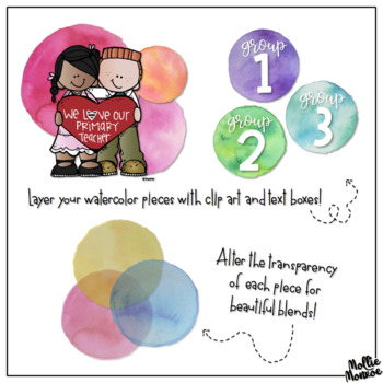 Watercolor Circle Clip Art