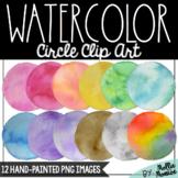 Watercolor Circle Clip Art