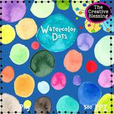 Watercolor Circle Dots