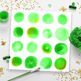 Watercolor Circles Clipart- Small Green, Green Watercolor Clipart Dots, PNGs
