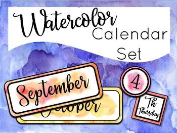 Watercolor Class Calendar