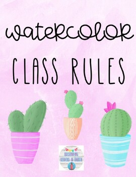 Watercolor Class Rules