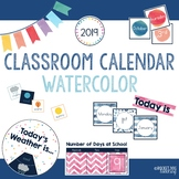 Watercolor Classroom Calendar and Weather Set