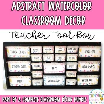 Watercolor Classroom Decor ABSTRACT: Teacher Tool Kit