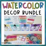 Watercolor Classroom Decor BUNDLE {Rainbow}