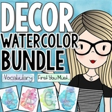 Watercolor Classroom Decor Bundle with Bonus File