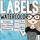 Watercolor Classroom Decor - Classroom Labels