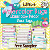 Classroom Themes Decor Bundle Sampler | Name Plates / Desk