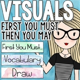 Watercolor Classroom Decor - First You Must, Then You May Signs
