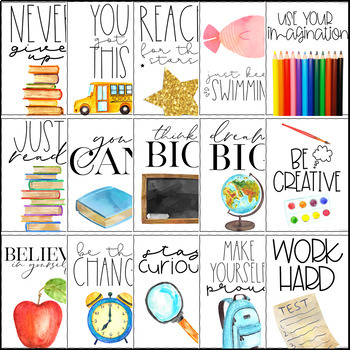 Growth Mindset Posters-Inspirational and Motivational Posters Classroom Decor