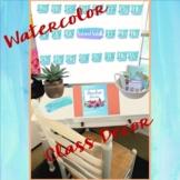 Watercolor Classroom Decor MEGA bundle-Editable
