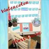 Watercolor Classroom Decor MEGA bundle-Editable