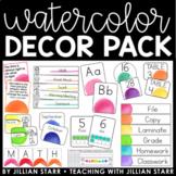 Watercolor Classroom Decor Pack