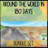 Watercolor Travel Theme Classroom Decor BUNDLE