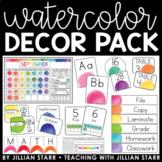Watercolor Classroom Decor Pack Bundle