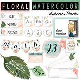 Watercolor Floral - Farmhouse - Boho - Classroom Decor Bundle