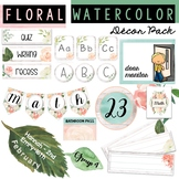 Watercolor Classroom Decor Pack [rustic, floral, trendy, pretty)