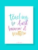 Watercolor Classroom Decor Quotes