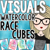 Watercolor Classroom Decor - RACE, RACES, RAP, CUBES