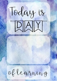 Watercolour Classroom Decor - Today is ___ Day of Learning