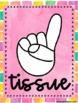 Watercolor Classroom Hand Signals (Pink)