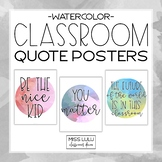 Watercolor Classroom Inspirational Quote Posters #fireworks2020