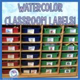Watercolor Classroom Labels