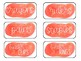 Watercolor Classroom Labels for Supplies & Manipulations (Orange)