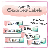 Watercolor Classroom Labels in SPANISH!
