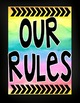Watercolor Classroom Rules (Color Splash Series)-Editable