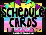 Watercolor Classroom Schedule (Color Splash Series)-Editable
