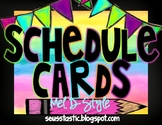 Watercolor Classroom Schedule (Color Splash Series)-Editable