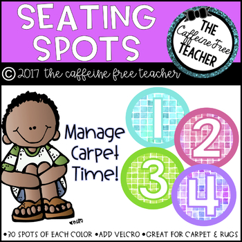 Watercolor Classroom Seating Spots