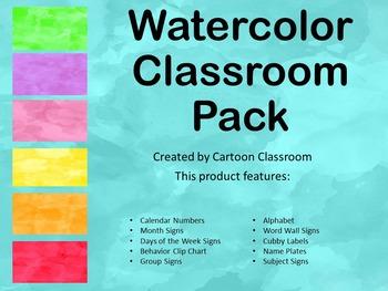 Watercolor Classroom Set
