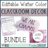 Watercolor Classroom Theme Decor Bundle