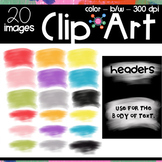 Watercolor Banners Clipart