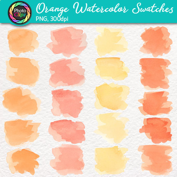 Watercolor Clip Art Bundle {Hand-Painted Strokes, Splotches, and Dot Textures}