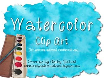 Watercolor Clip Art Pack