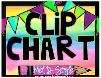 Watercolor Clip Chart (Color Splash Series)
