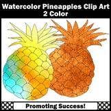 Watercolor Clipart, Pineapple Clip Art