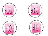 Watercolor Clock Labels