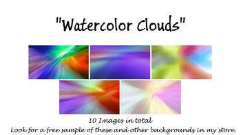 """""""Watercolor Clouds"""" Background Pack"""