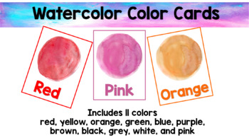 Watercolor Color Cards