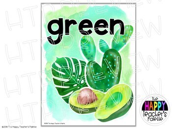 Watercolor Color Posters