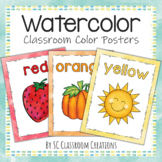 Watercolor Color Posters- Classroom Decor