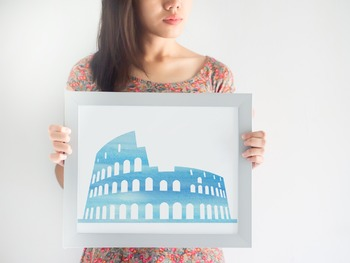 Watercolor Colosseum Printable in Multiple Colors // Ancient Rome