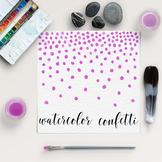 Watercolor Confetti Clipart