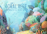Watercolor Coral Reef Clipart